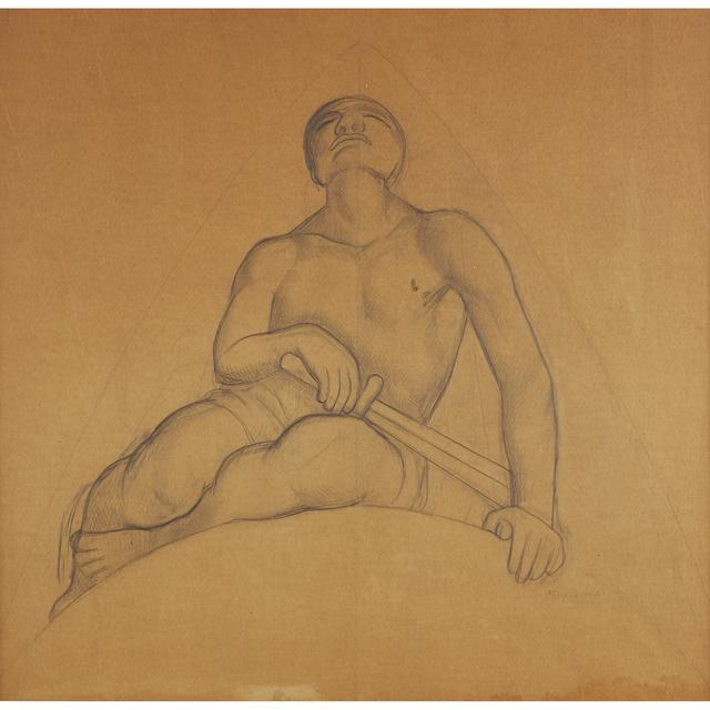 Diego Rivera, 'Guardante Silente De La Verdad, En El Tramo De La 'Revelación Del Camino' Study For Chapingo Mural, Chapel', Executed circa 1925., Freeman's