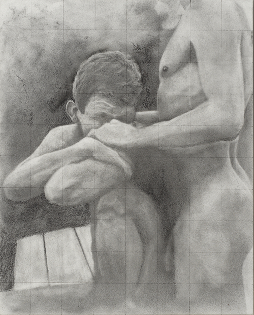 Rick Sindt, 'Untitled - After Cadmus', 2017, Drawing, Collage or other Work on Paper, Graphite and graphite powder on panel, Gallery Victor Armendariz