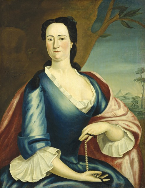 John Greenwood, 'Elizabeth Fulford Welshman', 1749, Painting, Oil on canvas, National Gallery of Art, Washington, D.C.
