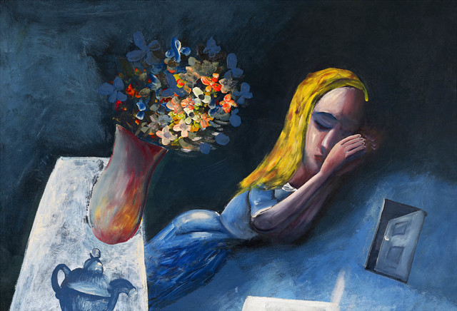 Charles Blackman, 'Dreaming Alice', 1956, Reproduction, Pigment print on paper, Angela Tandori Fine Art