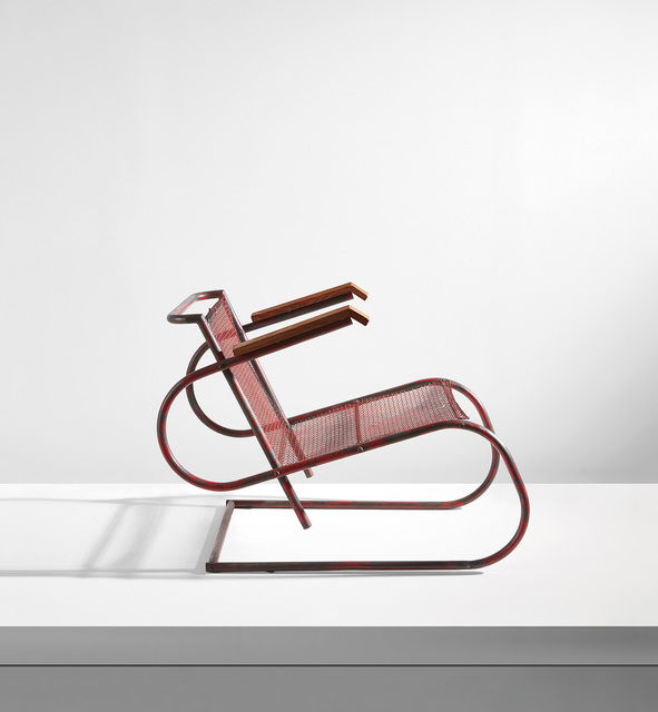 Georges-Henri Pingusson, 'Rare armchair, from the Hôtel Latitude 43, Saint Tropez', circa 1932, Phillips