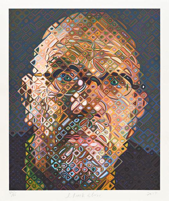 Chuck Close, 'Self-Portrait', 2017, Print, érigraphie en 91 couleurs / Silkscreen in 91 colors, Galerie de Bellefeuille