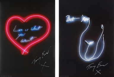 Tracey Emin, 'Love is What You Want; and But Yeah,' 2015, Phillips: Evening and Day Editions
