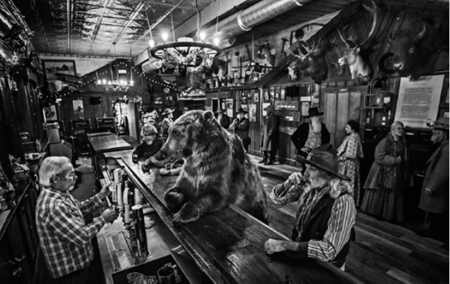 David Yarrow, 'A Bear Walks Into A Bar ', 2016, Maddox Gallery