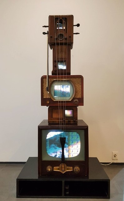, 'Antique TV Cello,' 1975, Galerie Bhak