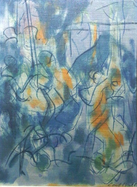 Carl Holty, 'Untitled Abstraction', ca. 1950, F.L. Braswell Fine Art