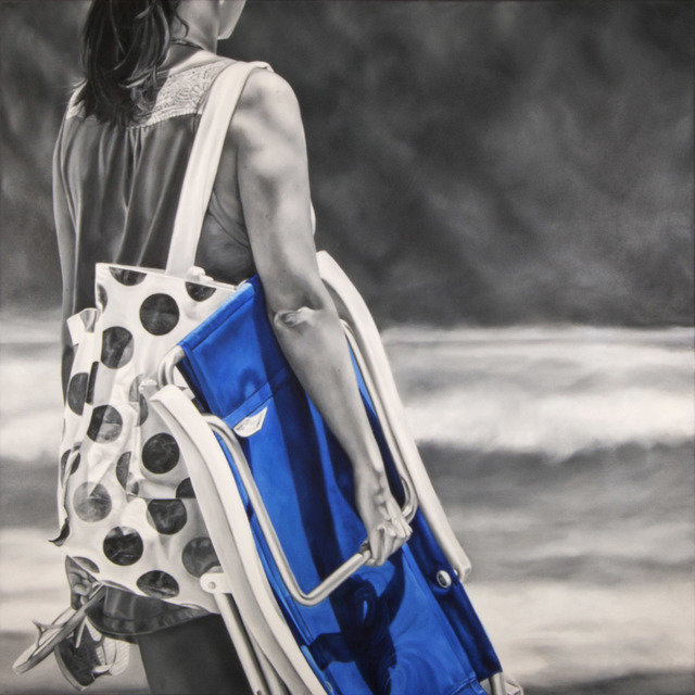 , 'Girl with Polka Dot Bag,' 2016, Caldwell Snyder Gallery