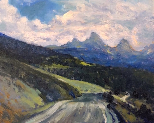 Richard Rosenblatt, 'Idaho Grand Teton View', 2019, Painting, Oil, The Galleries at Salmagundi