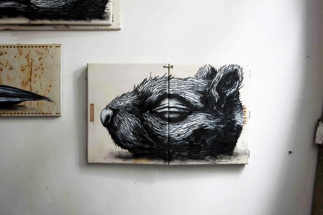 ROA, 'Squirrel Head', 2010, The Garage Amsterdam