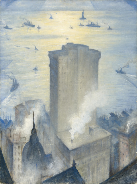 , 'The Statue of Liberty from the Railroad Club,' ca. 1919, MacConnal-Mason Gallery