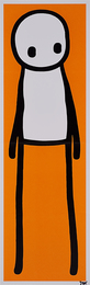 "Standing Figure, Signed Print Together with Signed and Illustrated Book, ""Stik"""