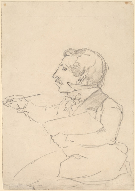 Emanuel Gottlieb Leutze, 'Eastman Johnson Sketching', ca. 1849/1851, Drawing, Collage or other Work on Paper, Graphite and touches of black chalk on wove paper, National Gallery of Art, Washington, D.C.