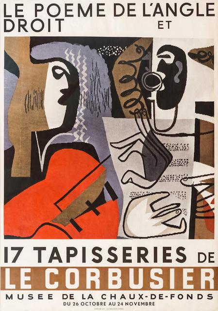 , 'Le poème de l'angle droit et 17 tapisseries,' 1957, Placart
