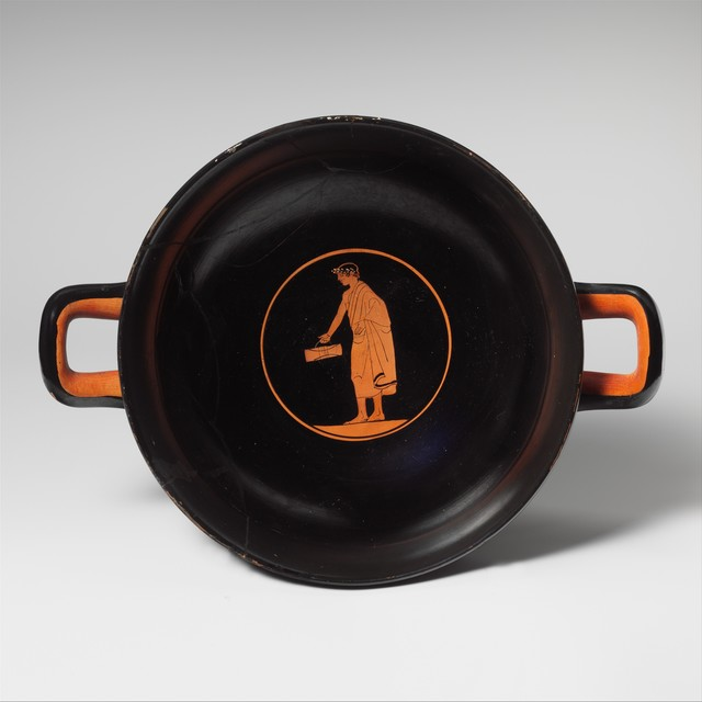 , 'Kylix depicting schoolboy with wooden tablets,' ca. 460 BCE, Bard Graduate Center Gallery