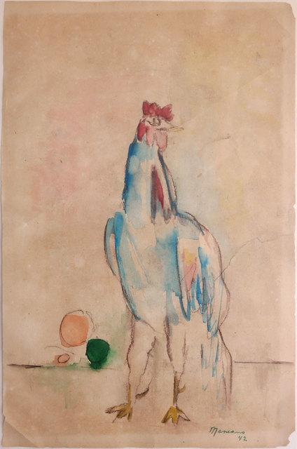 """Mariano Rodriguez, '""""Gallo"""" (Rooster) ', 1942, Galería COVARRUBIAS"""