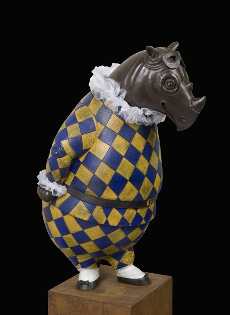 , 'Rhino Harlequin, bowing,' 2015, Cavalier Galleries