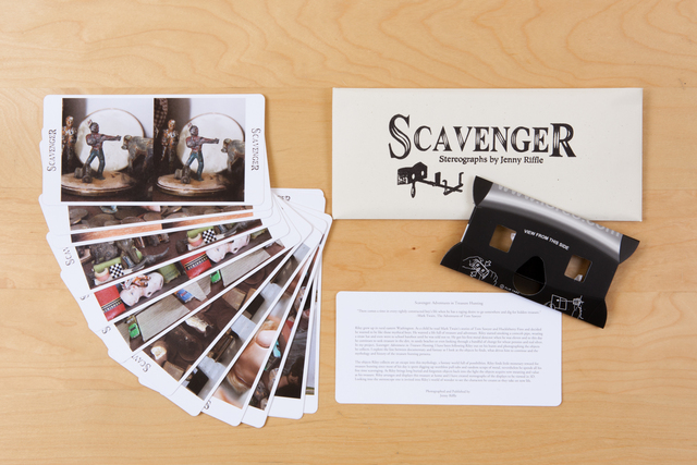 , 'Scavenger: Adventures in Treasure Hunting, with Stereoviewer and Cards Set,' 2015, Zatara Press