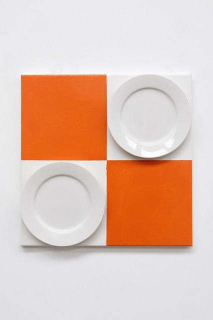 , 'Untitled (orange with Ceramic Plate) ,' 2018, Two Rooms