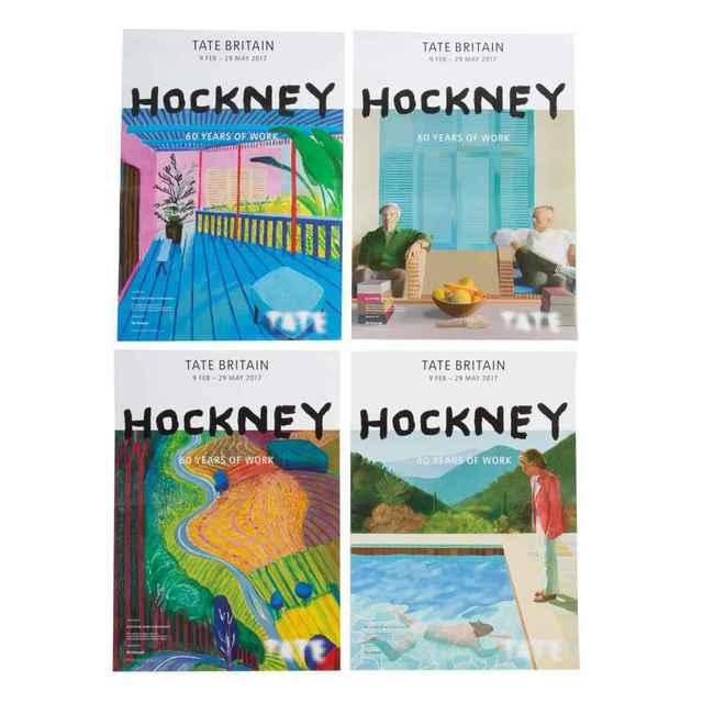 David Hockney, 'Hockney Retrospective Posters (4)', Unknown, Print, Exhibit Poster, Leviton Fine Art