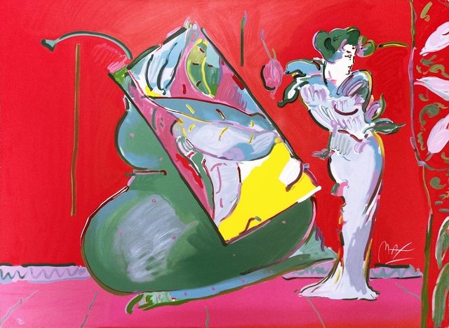 Peter Max, 'LADY ON RED WITH FLOATING VASE', 1988, Gallery Art