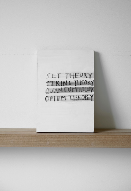 , 'Set Theory String Theory Quantum Theory Opium Theory,' 2012, Margaret Thatcher Projects