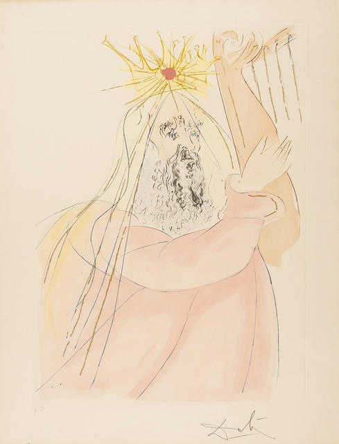 Salvador Dalí, 'King David (from Our Historical Heritage) (M & L 761; Field 75-4-E)', 1975, Print, Etching with pochoir printed in colours, Forum Auctions