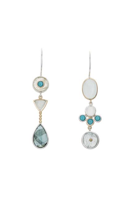 , 'Assymetric Blue Stone Earrings ,' ca. 2018, Facèré Jewelry Art Gallery