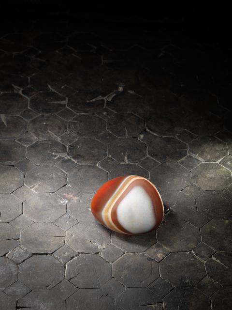 , 'A three-colour agate pebble 三色白條紋瑪瑙卵石,' , Rasti Chinese Art