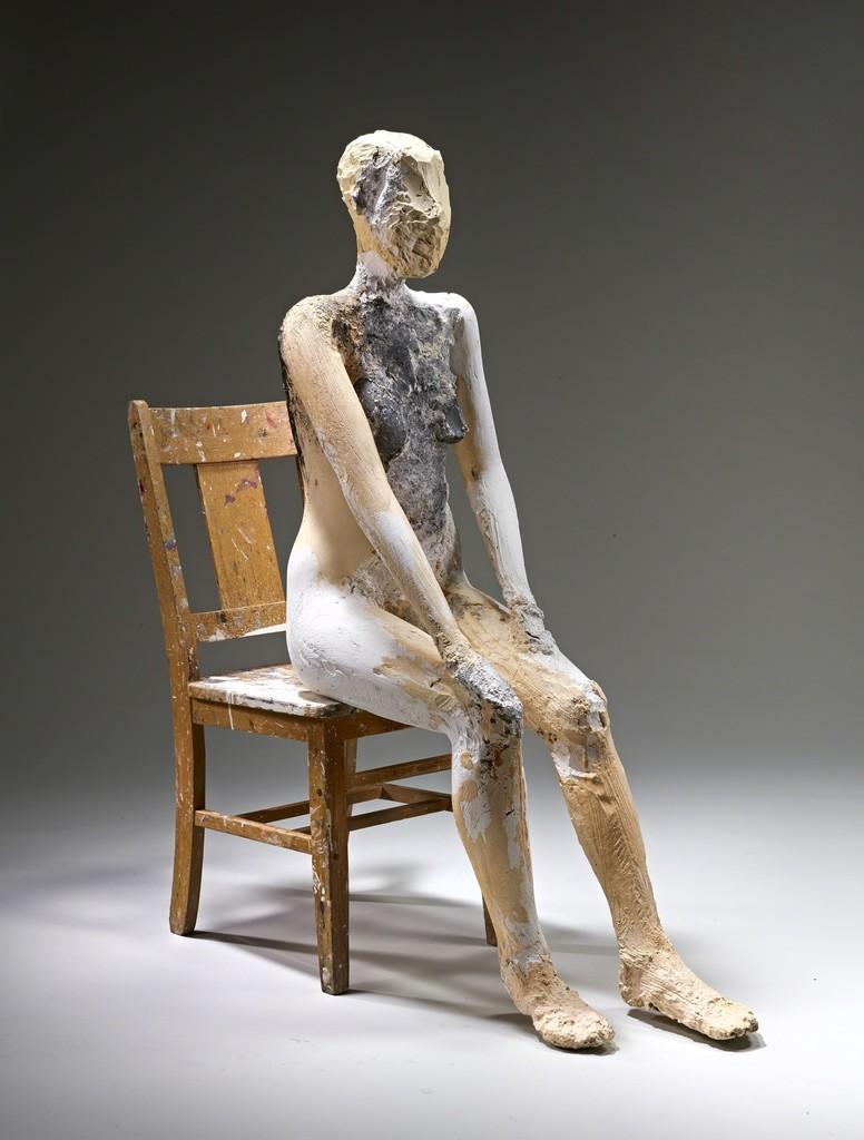 Manuel Neri, Re-making of Mary Julia No. 6, 1976. Plaster, steel, Styrofoam, and burlap. Yale University Art Gallery, Gift of The Manuel Neri Trust. © The Manuel Neri Trust