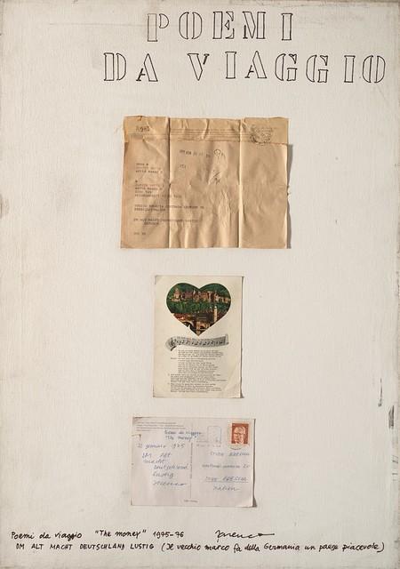 """Mabellini Isaia Sarenco, 'Poemi da viaggio """"the money""""', 1975-76, Finarte"""