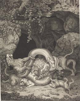 Johann Heinrich Wilhelm Tischbein, 'The Animal Laocöon', 1796, Print, Etching on wove paper, National Gallery of Art, Washington, D.C.
