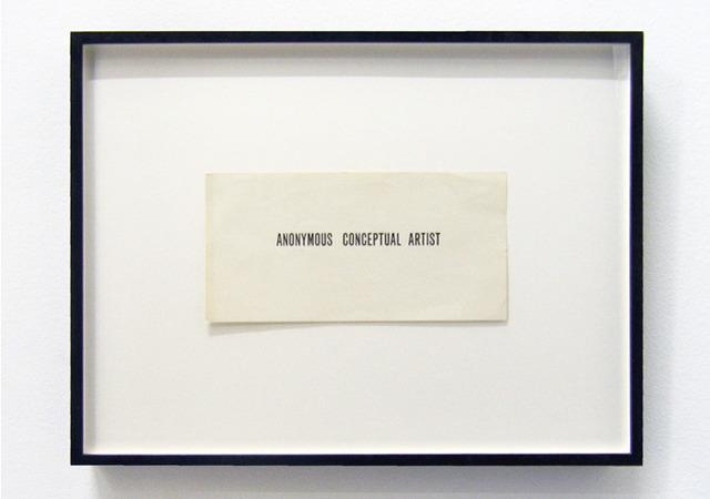 , 'Anonymous Conceptual Artist,' 1971-1973, Galerija Gregor Podnar