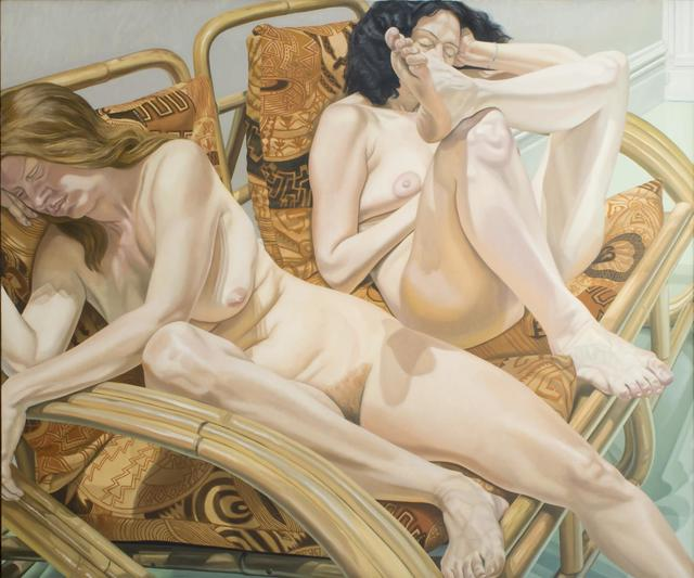 , 'Two Models in Bamboo Chairs,' 1981, Templon