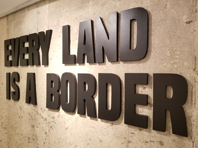 , 'Every land is a Border,' 2017, RoFa Projects