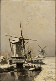 Molen in Winter