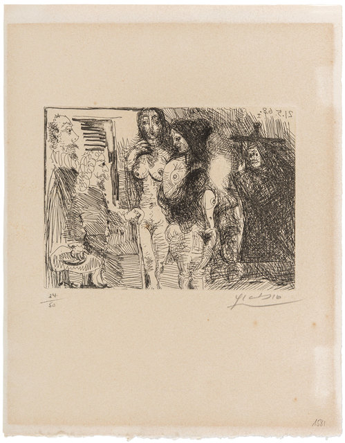 Pablo Picasso, 'Procuress presenting two women to two clients from 'La Célestine'', 1968, ArtRite