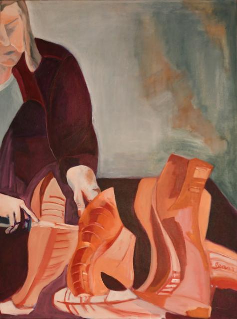 , 'Woman Cutting Fish,' 2002, Pleiades Gallery