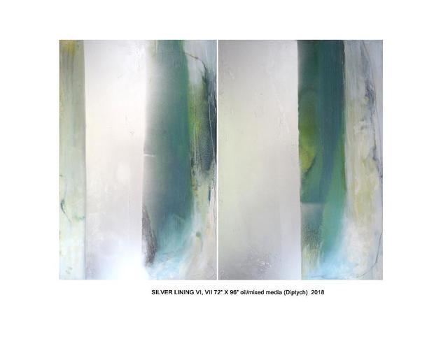 Karen Green Recor, 'SILVER LINING VI, VII', 2018, Walter Wickiser Gallery