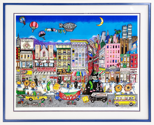 Charles Fazzino, 'FROM FISHES TO KNISHES', 1994, Print, 3D MIXED MEDIA SERIGRAPH, Gallery Art