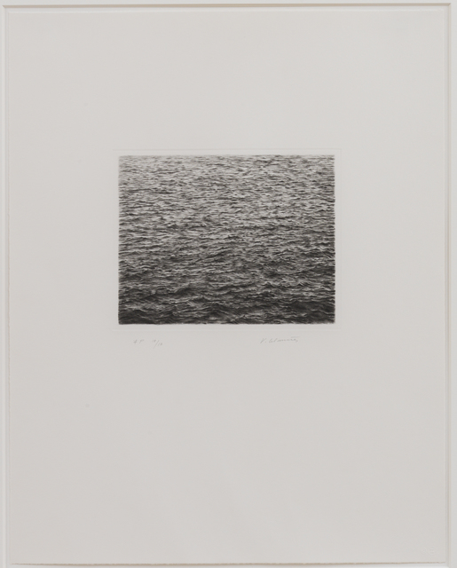 , 'Drypoint - Ocean Surface (Second State),' 1985, Susan Sheehan Gallery