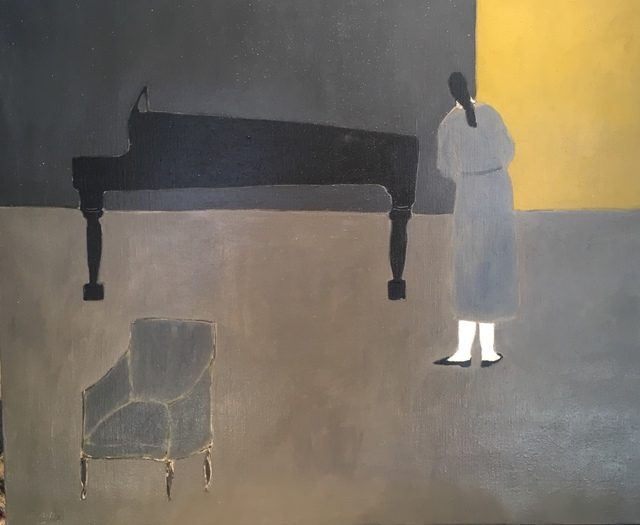 , 'The music room/ yellow wall,' 2018, Emmanuelle G Gallery