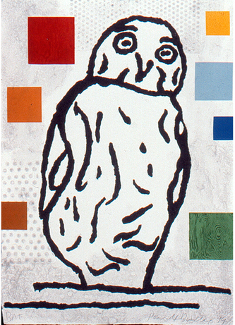 , 'Abstract Composition with Bird I,' 1999, Dieu Donné