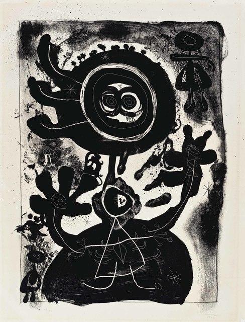 Joan Miró, 'Grand Personnage Noir', 1948, Print, Lithograph, on Rives BFK paper, Christie's