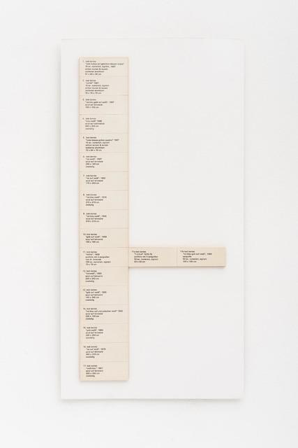 , 'Exhibition #9 (Bob Bonies),' 1992, Bergamin & Gomide