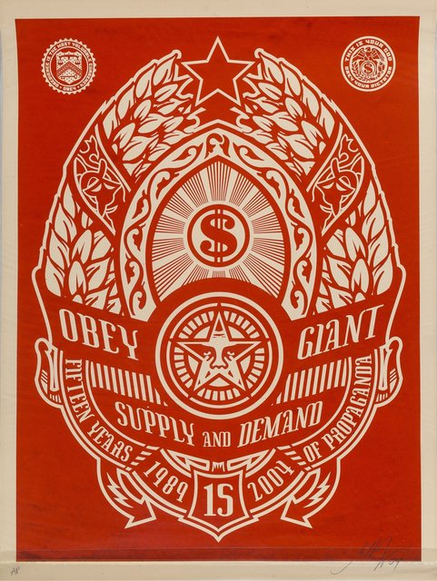 Shepard Fairey, 'Supply and Demand (Red)', 2004, Heritage Auctions