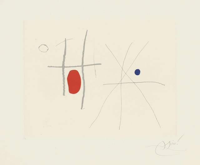 Joan Miró, 'Plate 33 from: Càntic del Sol', 1975, Christie's
