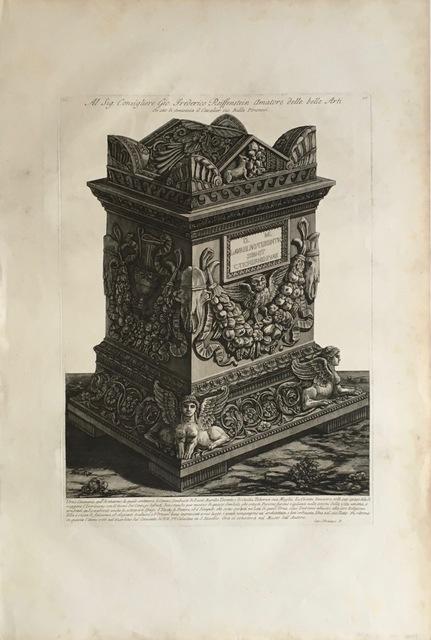 , 'Vasi, Candelabri, Cippi, arcofagi, Tripodi, Lucerne, ed Ornamenti Antichi,' 1778-1780, Pia Gallo