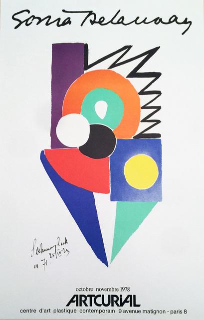 Sonia Delaunay, 'Sonia Delaunay, ARTCURIAL, centre d'art plastique comtemporain Poster/Print   Original Poster', 1978, Reproduction, Original Lithographic Event Poster, David Lawrence Gallery