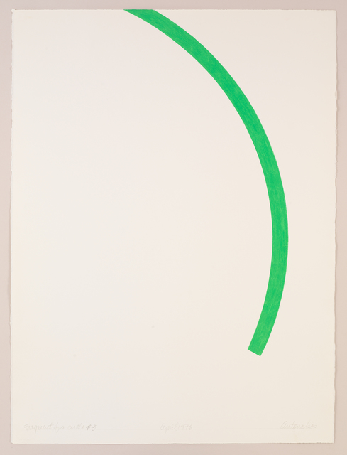 ", '""Fragment of a Circle"" #3,' 1976, Bookstein Projects"