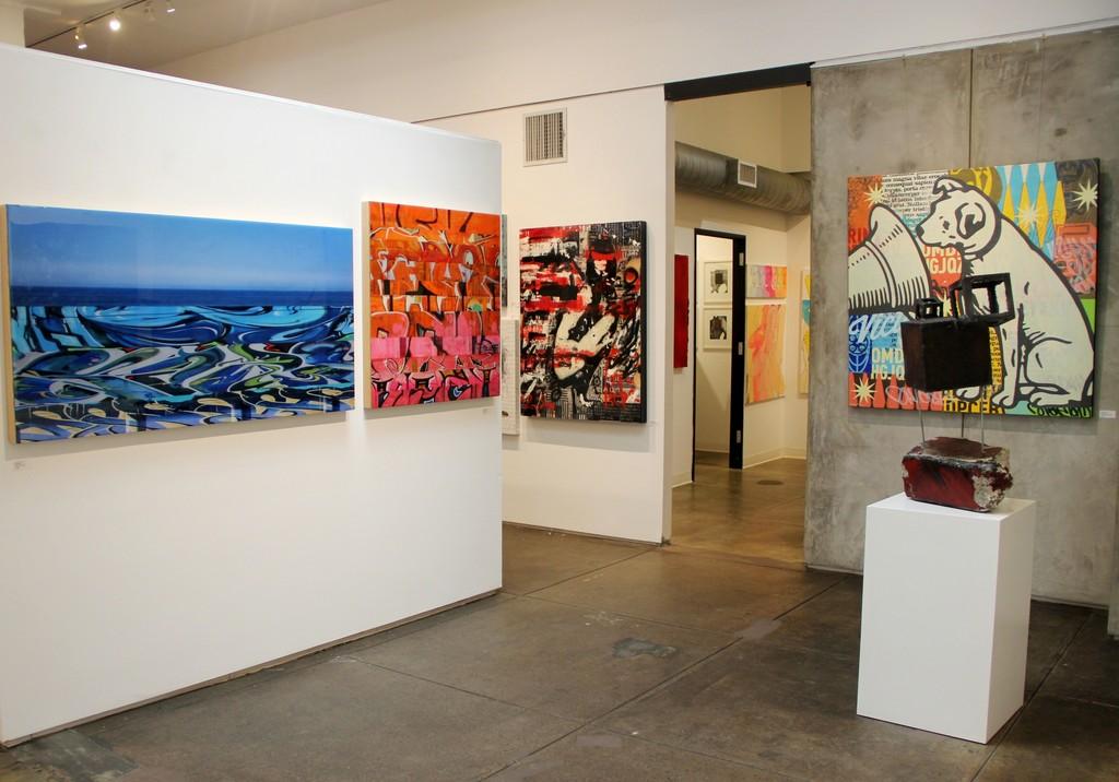 Nicola Katsikis, Ashleigh Sumner and Johnny Taylor artworks, Michael Habicht sculpture